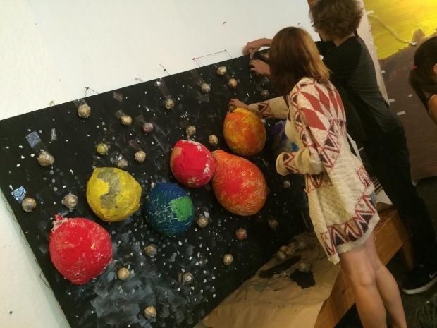Creating 3-D murals!