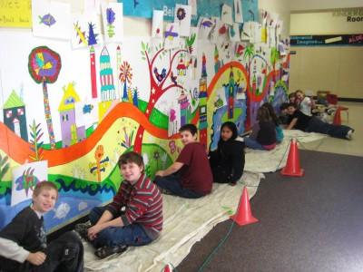 Mural making on a Friday!
